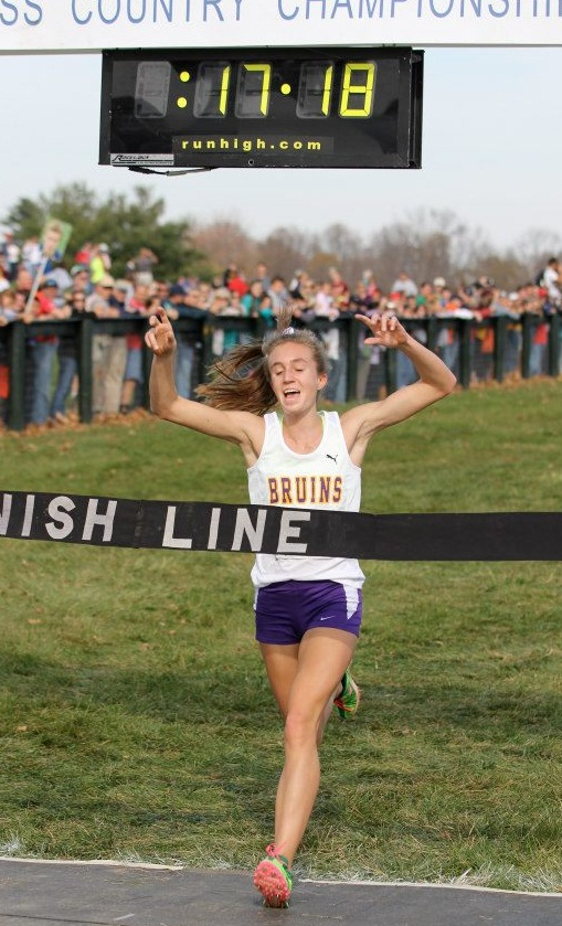 Sophie Chase wins the state meet.