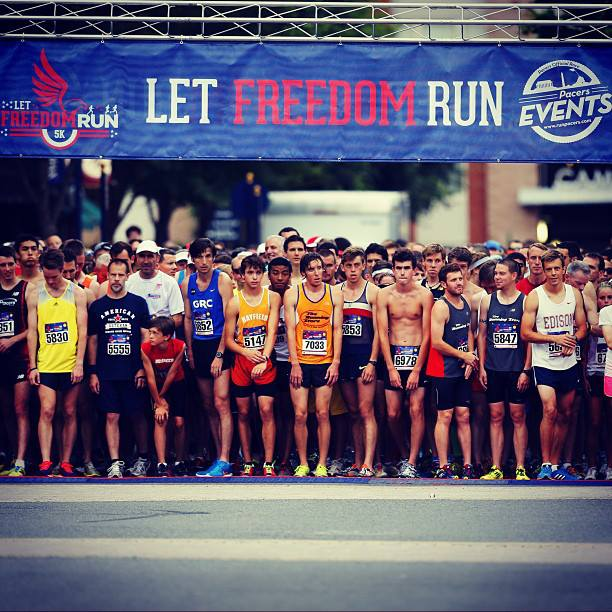 Moments before the start of the Let Freedom Run 5k.                                                            Photo: Swim Bike Run Photography
