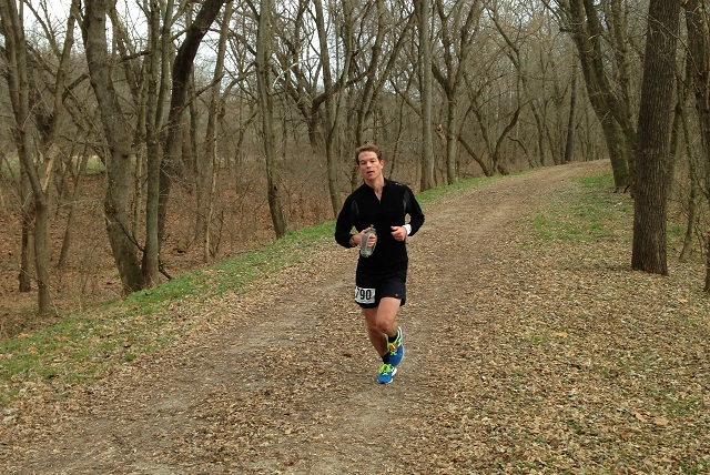 Fairfax resident William Kuper passes though mile 39 on his way to running 6:35:27 at the JFK 50 Mile. Photo: Charlie Ban