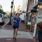 Patricia Chaupis runs from from work through Georgetown. Photo: Jimmy Daly