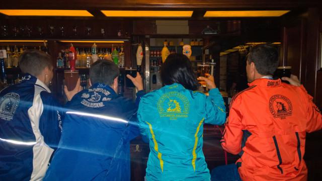 Members of the MCRRC team celebrate after the 2014 Boston Marathon. Photo: Courtesy of Ken Trombatore