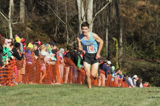 Evan Woods on his way to the Maryland 4A boys state title. Photo: Scott Silverstein