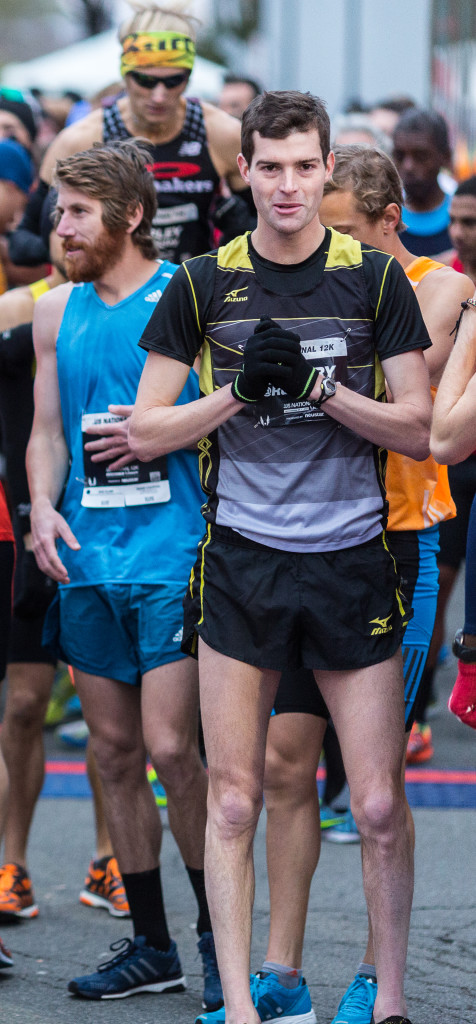 Christo Landry before the .US 12k Championships in 2014. Photo: Dustin Whitlow/DWhit Photography
