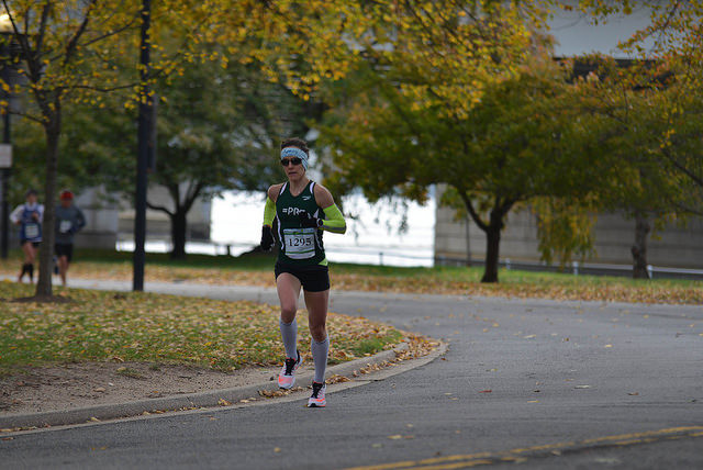 Meghan Ridgley at the 2014 Run for the Parks 10k. Photo: Potomac River Running