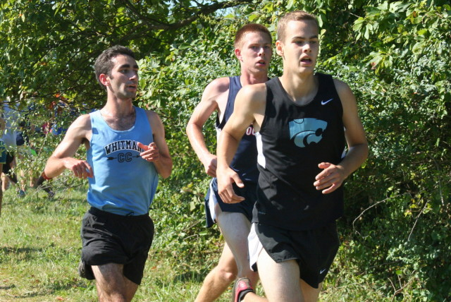 Ben Gersch, Bobby Lockwood and Brent Bailey head into the last half mile. Photo: Charlie Ban
