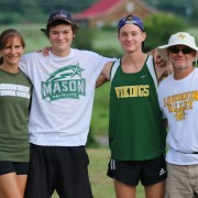 Joan, Noah, Drew and Marc Hunter. Joan and Marc were named coaches of the year for Virginia boys' cross country teams by the USTFCCCA and Drew was Gatorade athlete of the year for Virginia. Photo: Ed Lull