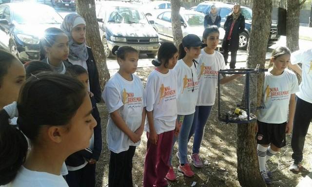 Nina Brekelmans Running Camp participants assemble.