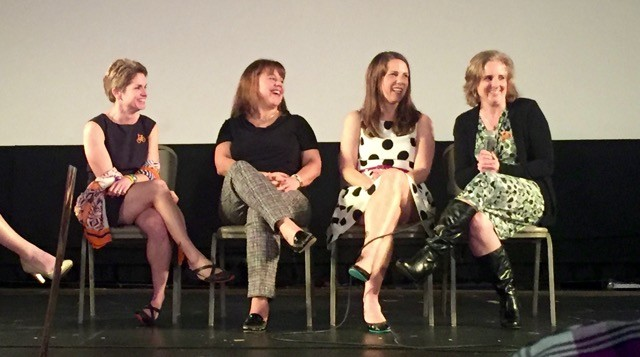 "Kate Morse, Heidi Crayton, Heather Jeff, Theresa Urban at the premiere of ""Living, With MS."" Photo: Laura Scaduto"