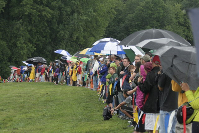Parents and friends watch the 2015 Monroe Parker Invitational. Photo: Charlie Ban