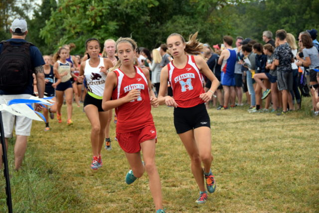 George C. Marshall's Sophie Tedesco and Natalie Bardach in the second mile at the Oatlands Invitational. Photo: Charlie Ban