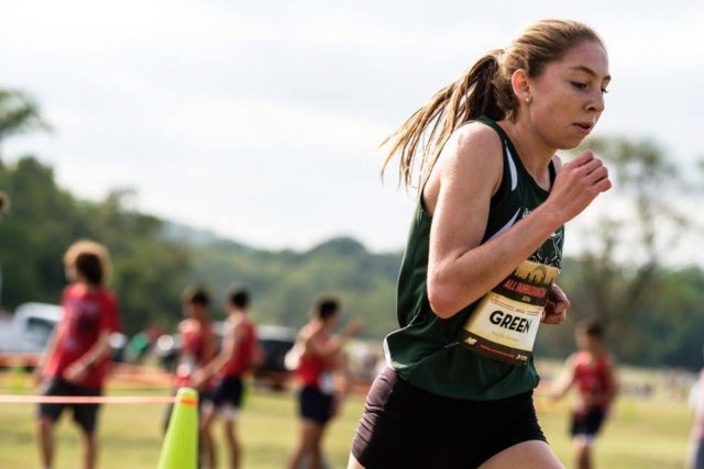 Abigail Green during the DCXC Invitational junior race. Photo: Dustin Whitlow