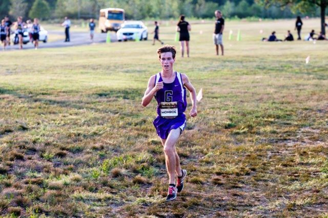 Harry Monroe at the DCXC Invitational senior race. Photo: Dustin Whitlow