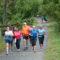 Steve Ferguson runs with his MCRRC Back of the Pack gang. Photo: Marleen van den Neste