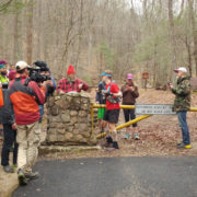 "John Kelly checks in with ""Lazarus Lake"" before starting his fourth loop at the 2017 Barkley Marathons. Photo: Ed Aramayo"