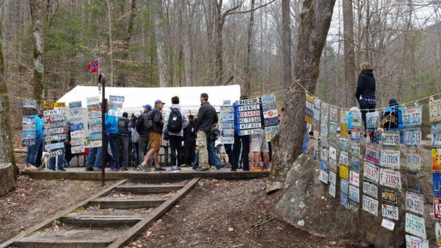 The scene at the 2017 Barkley Marathons camp. Photo: Conrad Laskowski