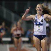 Lake Braddock alumna Katy Kunc wins the 2017 SEC 3,000 meter steeplechase. Photo: University of Kentucky Athletics