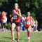 Heather Holt leads Julia Ghiselli approaching the two-mile mark at the Monroe Parker Invitational. Photo: Charlie Ban