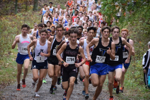 Runners have staked out their early positions a half mile into the Third Battle Invitational. Photo: Charlie Ban
