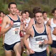 Matthew Lange lead George Washington to third place in the Atlantic 10 Championships - the Colonials' best showing. Photo: Charlie Ban