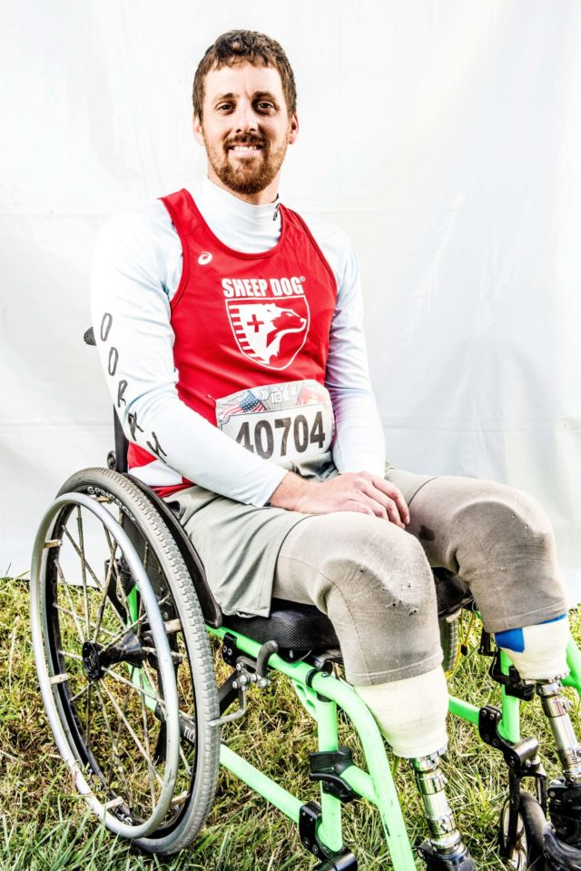 """Photo By Doug Stroud Matt Spang, retired Army in November 2013, of Wisconsin Rapids, WI who now resides in Monument, CO participating in his first race finished with a time of 2:12:32 in the 2017 Marine Corps Marathon 10K. """"I do stuff like this, I like being with my brothers, my veterans especially, they push me and I push them which makes us a better person overall. The course was full of beautiful scenery, it was a fun day and lot of people came out and cheered that helped us."""" West will start back to school in the upcoming spring for sports management in Colorado Springs, Co."""